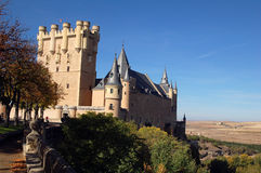 Segovia Fortress 2. East view of the Segovia's Fortress, in Spain royalty free stock image