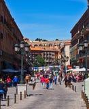 Segovia histórico, Espanha, e Roman Aqueduct fotografia de stock
