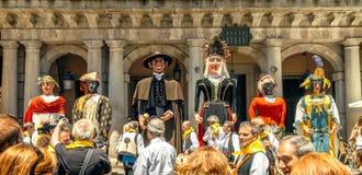 Segovia Hiszpania, Czerwiec, - 29, 2014: Giganty i duże głowy Obrazy Royalty Free