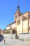 segovia Hiszpania miejski krajobrazu Katolicki średniowieczny katolicki chur Obrazy Royalty Free