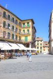segovia Hiszpania miejski krajobrazu Placu Mayor Obrazy Stock