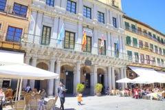segovia Hiszpania miejski krajobrazu Placu Mayor Obraz Stock