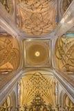 SEGOVIA, HISZPANIA, 2016: Skrzyżowanie naves Katedralny Nuestra Senora de los angeles Asuncion y De San Frutos de Segovia Fotografia Royalty Free