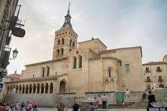 Segovia. Iglesia de San Martins in Segovia, Castilla y Leon, Spain Royalty Free Stock Photo
