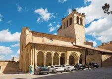 Segovia - a igreja de Iglesia de la Santisima Trinidad Holy Trinity da igreja do romanesque Imagem de Stock Royalty Free