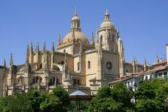 Segovia kathedraal Stock Afbeeldingen