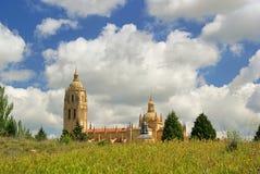 Segovia kathedraal stock afbeelding