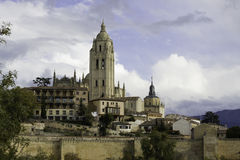Segovia Kathedraal, Castilla Leon, Spanje Royalty-vrije Stock Foto's