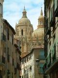 Segovia kathedraal, Segovia, Spanje stock afbeeldingen