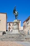 Segovia. Monument knight Juan Bravo Stock Image