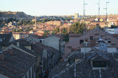 Segovia no por do sol imagens de stock