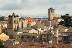 Segovia panorama Royalty Free Stock Photos