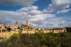 Segovia panorama, Spain Royalty Free Stock Photos