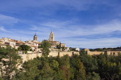 Segovia panoramic view Royalty Free Stock Images