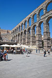 Segovia, pejzaż miejski Obrazy Royalty Free