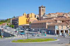 Segovia, pejzaż miejski Fotografia Royalty Free