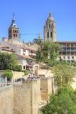 Segovia, pejzaż miejski Zdjęcia Stock