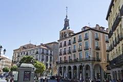 Segovia Plaza Mayor Royalty Free Stock Photos