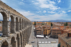 Segovia-römischer Aquädukt. Olivenölseifenregion, Spanien Stockfotos