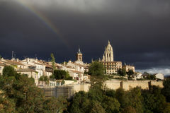 Segovia Rainbow Royalty Free Stock Photo