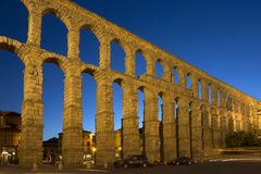 Segovia Roman Aquaduct - Spain. The Roman Aquaduct in the city of Segovia in the Castilla-y-Leon region of central Spain royalty free stock photography