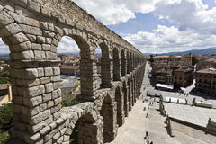 Segovia Roman Aqueduct Royalty Free Stock Image