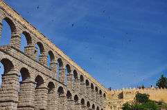 Segovia roman aqueduct. Castile region, Spain Stock Photo