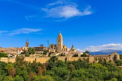 Segovia Roman Catholic Cathedral at Castile and Leon Royalty Free Stock Photos
