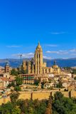 Segovia Roman Catholic Cathedral at Castile and Leon Stock Image