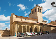 Segovia - The romanesque church Iglesia de la Santisima Trinidad Holy Trinity church Royalty Free Stock Image