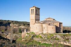 Segovia - The romanesque church Iglesia de la Vera Cruz Royalty Free Stock Photos