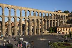Segovia - romerska Aquaduct - Spanien Arkivfoto