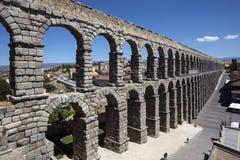 Segovia - romerska Aquaduct - Spanien Arkivbild