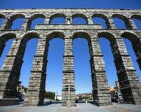Segovia romerska Aquaduct - Spanien Arkivfoto