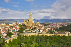 Segovia in serene May day. The ancient city of Segovia in serene May day Royalty Free Stock Images