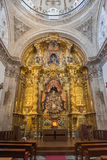 SEGOVIA, SPAGNA, 14 APRILE AL 2016: L'altare principale della chiesa Capilla del Santisimo Sacramento Immagini Stock Libere da Diritti