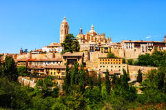 Segovia, Spain. Aerial view of old town Stock Image