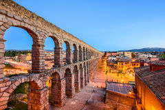 Segovia, Spain Ancient Roman Aqueduct Stock Photography