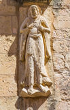 SEGOVIA, SPAIN, APRIL - 14, 2016: The relief of St. Peter the Apostle on the facade of romanic church Iglesia de San Miguel Royalty Free Stock Photography