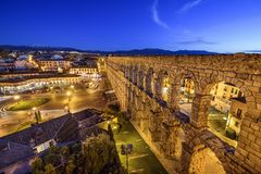 Segovia, Spain Aqueduct Royalty Free Stock Images