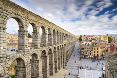 Segovia, Spain Aqueduct Stock Photo