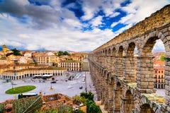 Segovia Spain Aqueduct Stock Image