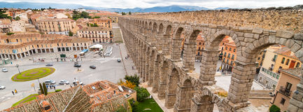The famous aqueduct in Segovia, Spain Royalty Free Stock Photos