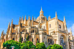 Segovia, Spain. Catedral de Santa Maria de Segovia in the historic city of Segovia, Castilla y Leon, Spain Stock Photos