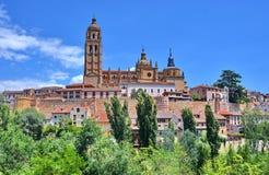 Segovia, Spain. Cathedral of Santa Maria in the historic city of Segovia, Spain Stock Photo