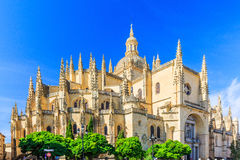 Segovia, Spain. Cathedral de Santa Maria de Segovia in the historic city of Segovia, Castilla y Leon, Spain Royalty Free Stock Image