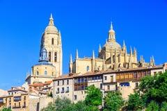Segovia, Spain. Cathedral de Santa Maria de Segovia in the historic city of Segovia, Castilla y Leon, Spain Royalty Free Stock Photos