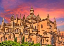 Segovia, Spain. Cathedral de Santa Maria de Segovia in Spain royalty free stock photography