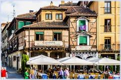 Segovia, Spain. Famous restaurant Meson de la Candido in Segovia, Spain Stock Photography