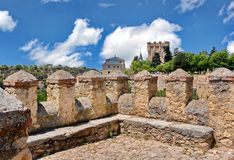 Segovia Spain. The fortress of Segovia in Spain royalty free stock photography